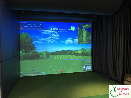 广州爱思看�o�V告博格南岗万达校区室内高尔夫项目