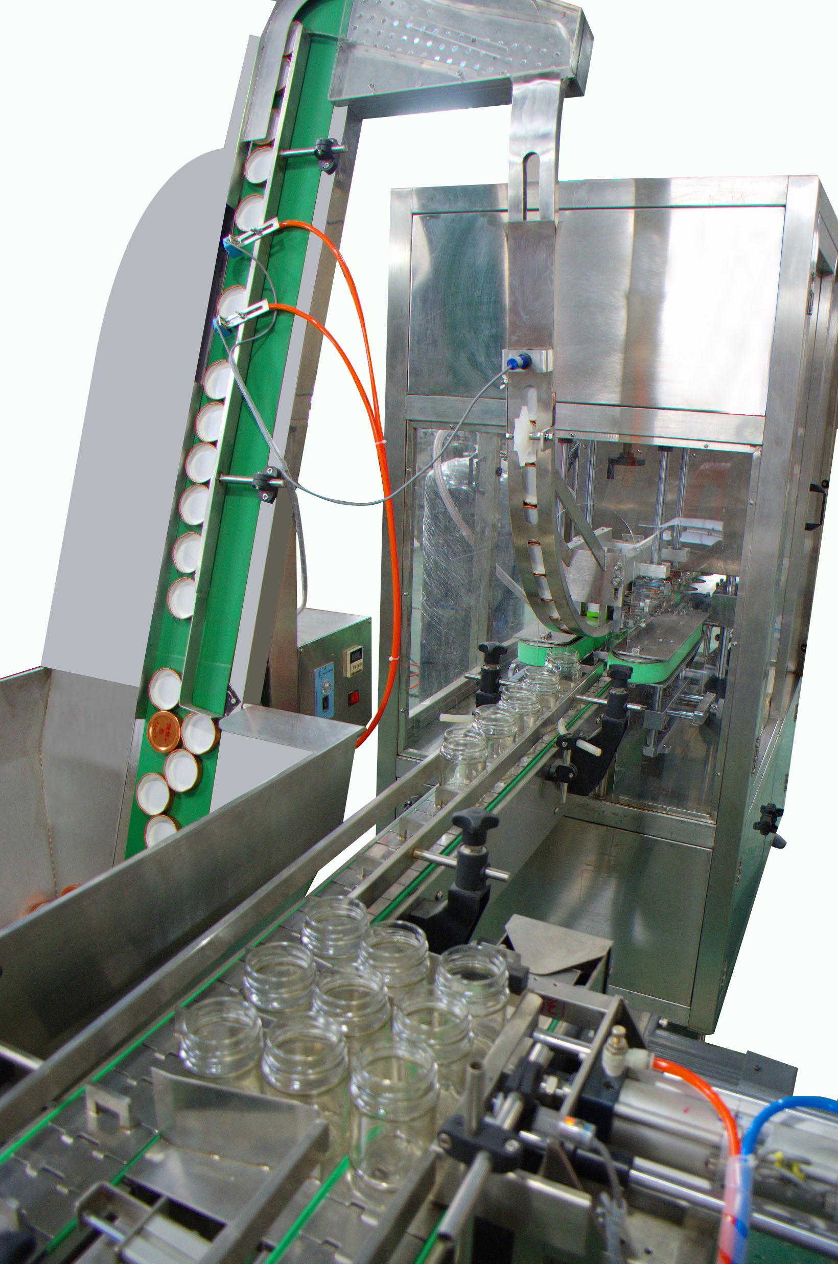 SC-ZXG160三(四)旋盖玻璃瓶全自动真空旋盖机