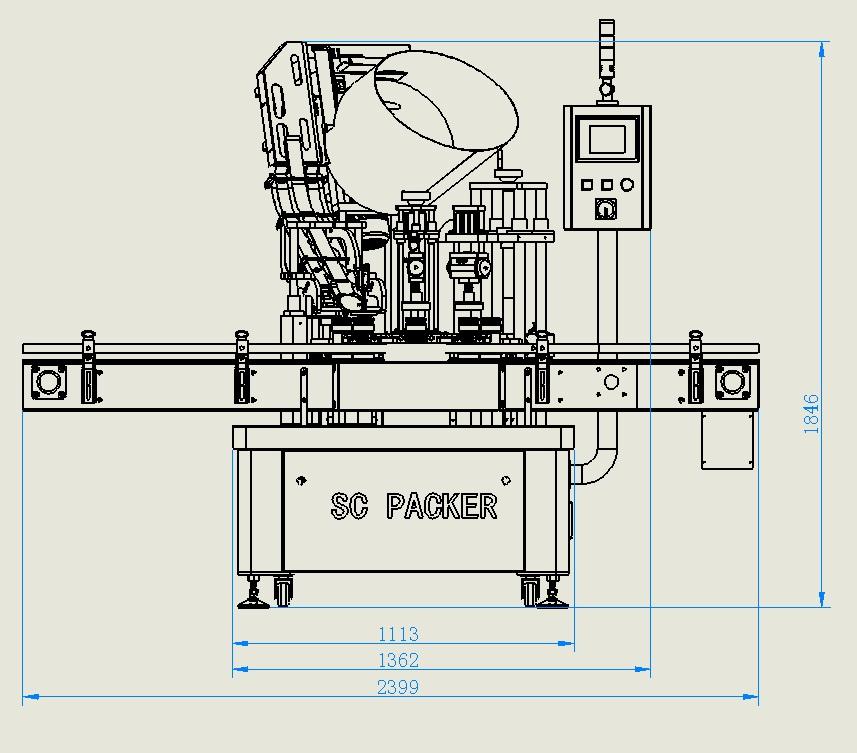 SC-ZXG120型 三(四)旋盖玻璃瓶全自动旋盖机