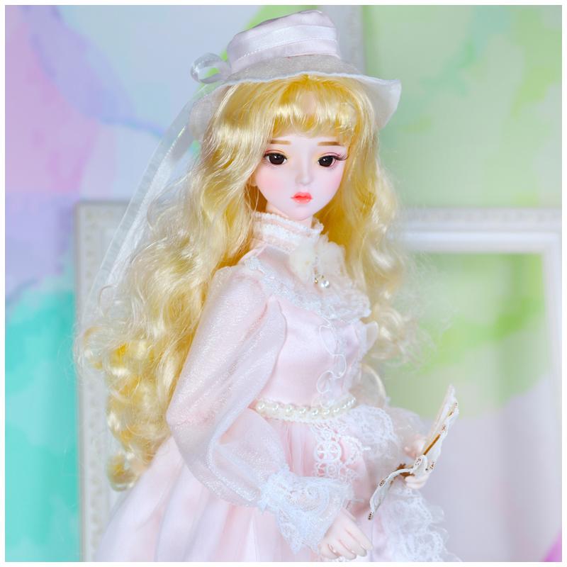 德必胜娃娃3分女娃bjd sd60cm娃娃可改妆换装洛丽塔复古娃娃妮可