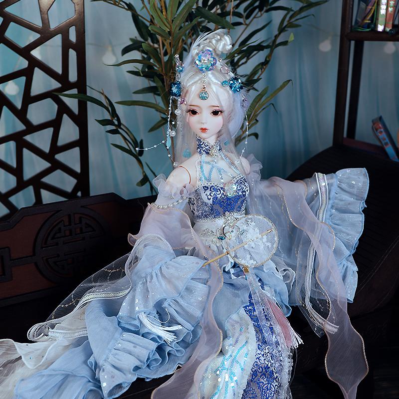 古装娃娃三国甄宓 3分女娃60cm关节娃娃