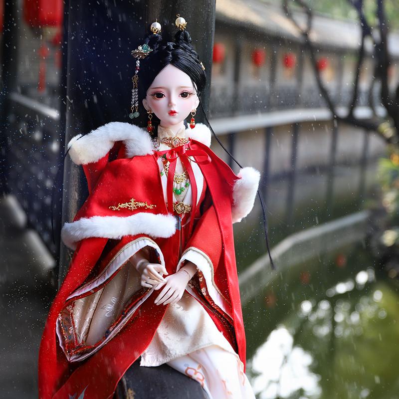 德必胜娃娃牛年新年款迎春古装娃娃3分女娃60cm娃娃中国风娃娃