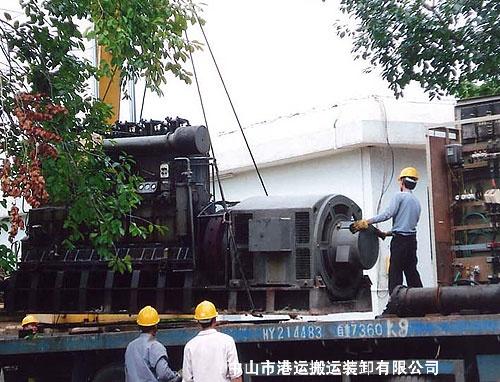 发电机吊装运输