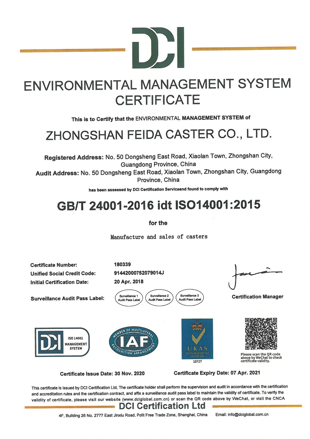 ISO ENVIRONMENT 2021