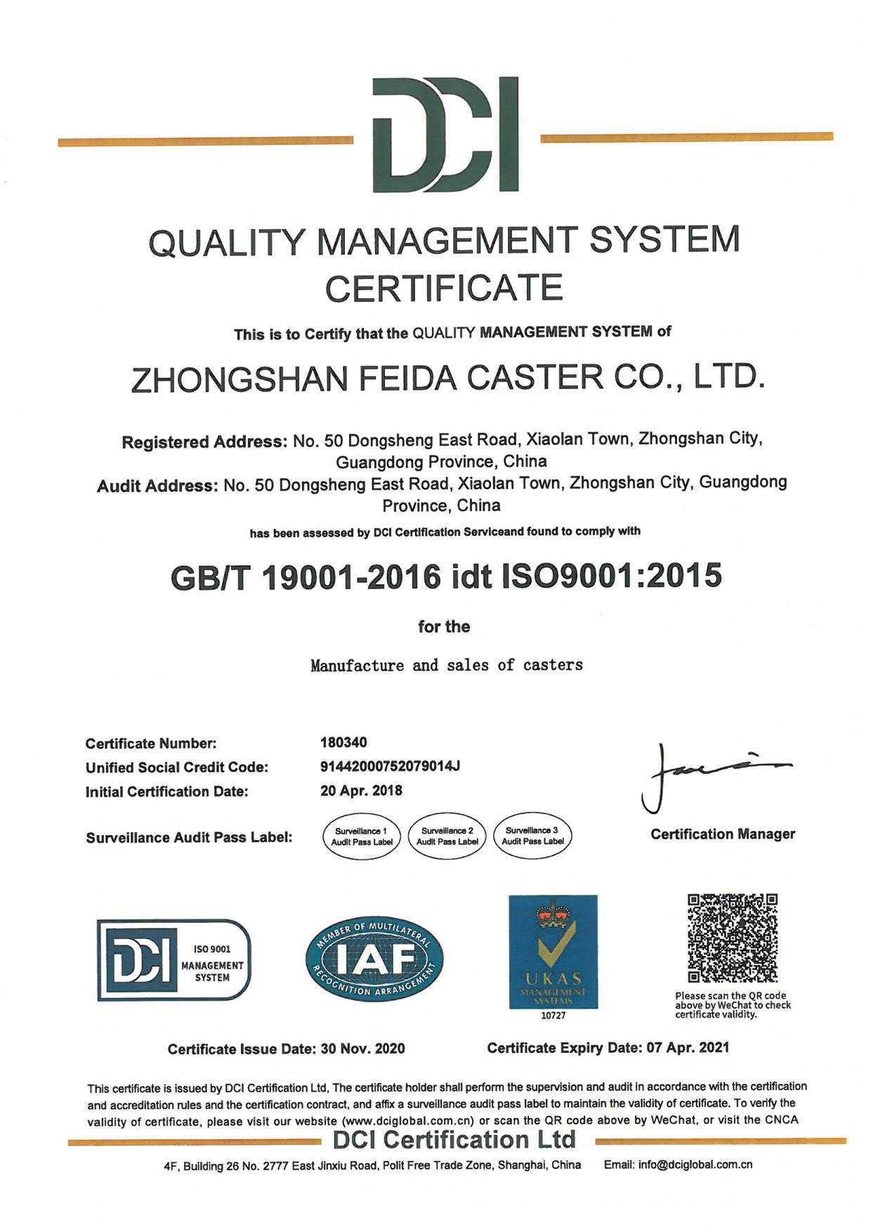 ISO QUALITY 2021