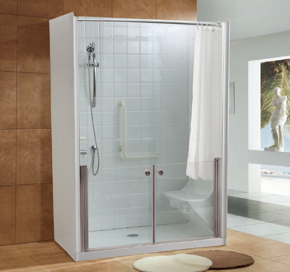 Q697A-Sliding door-Walk-In-Shower