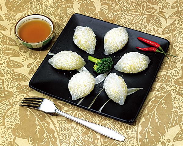 奶黄水晶角 Crystalline dumplings with milk stuffing