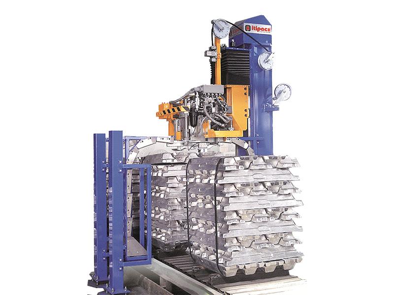 Aluminum ingot baling machine