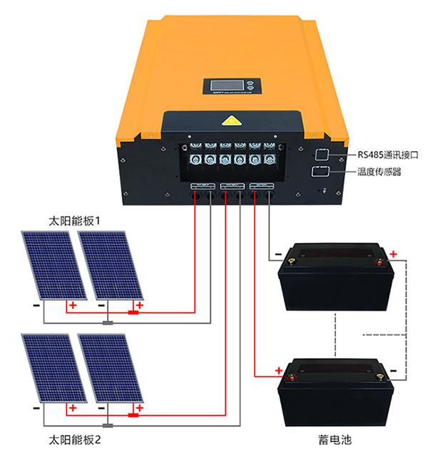 高电压MPPT太阳能控制器接线图