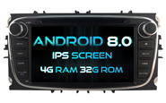 Android 8.0 For FORD MONDEO(2007-2013)/FOCUS(2008-2011)/ (W2-V5762B)