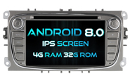 Android 8.0 For FORD MONDEO(2007-2013)/FOCUS(2008-2011) (W2-V5762S)