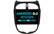 Android 9.0 For PEUGEOT 206 (W2-RV5377)
