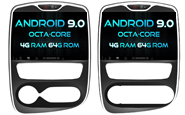 Android 9.0 For RENAULT CLIO 2017 (W2-RVF5388)