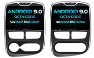 Android 9.0 For RENAULT CLIO 2015 (W2-RVF5387)