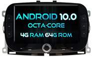 Android 10 For FIAT 500 2016-2019 (W2-RVT5202)