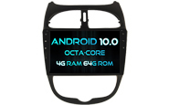 Android 10 For PEUGEOT 206 (W2-RVT5377)