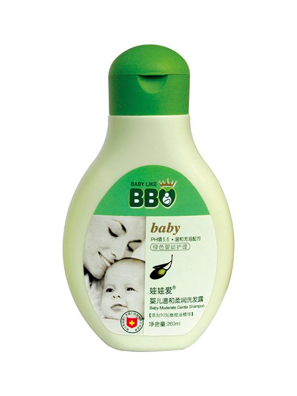 婴儿温和柔润洗发露