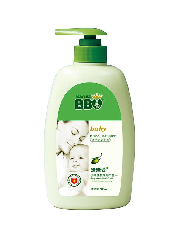 婴儿洗发沐浴二合一600ml
