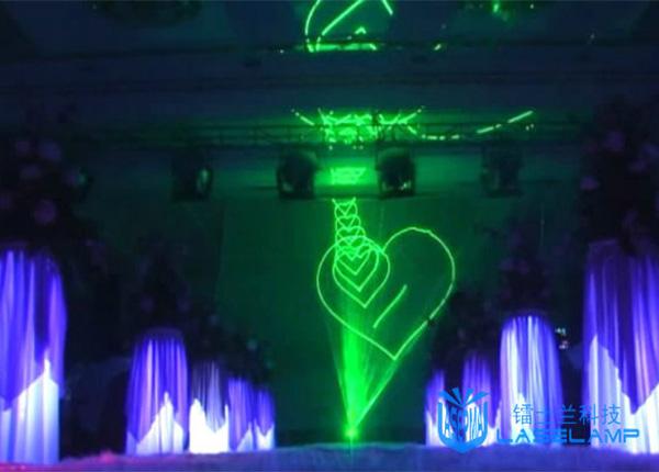 绿色婚庆激光秀