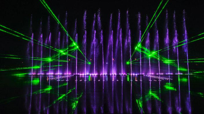 忠信花灯节激光音乐喷泉