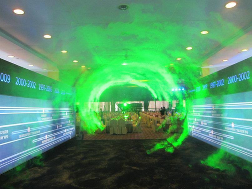 激光时空隧道-兴业家具签到现场