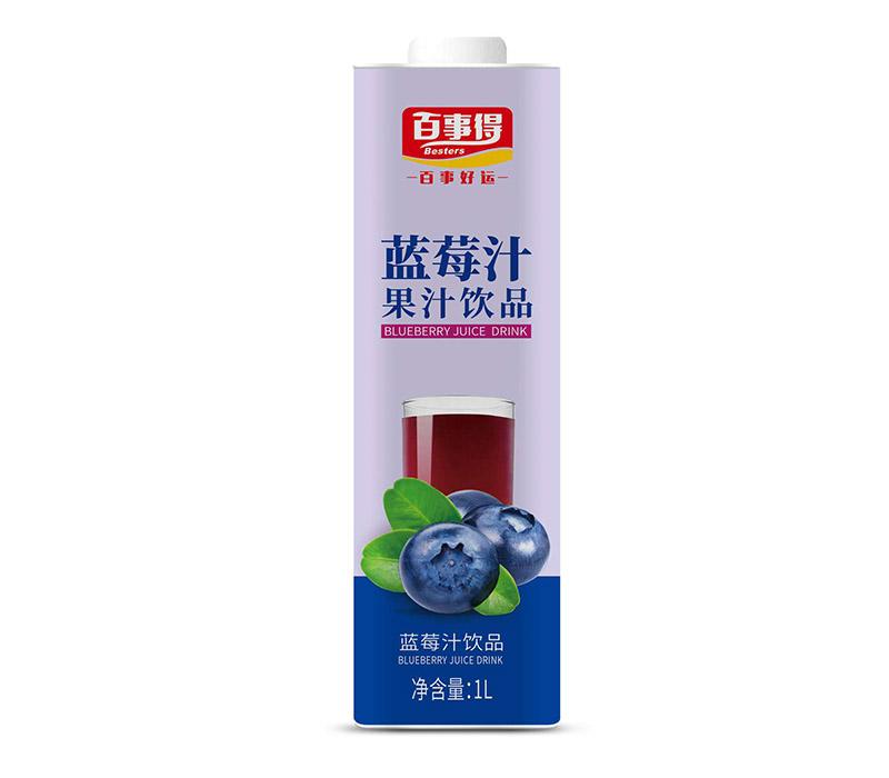 1L百事得直瓶方盒装蓝莓汁饮料