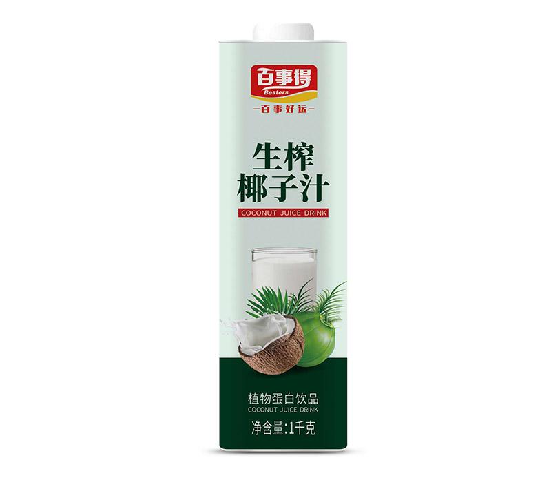 1L百事得直瓶方盒装生榨椰子汁饮料