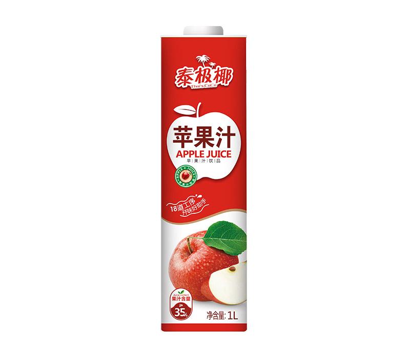 1L百事得泰极椰直瓶方盒装苹果汁饮料