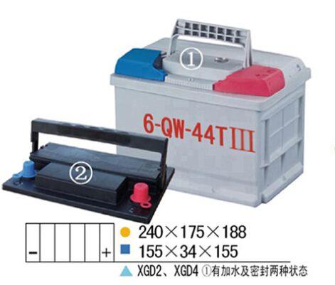 起动用免维护(QW)蓄电池槽-6-QW-44TIII