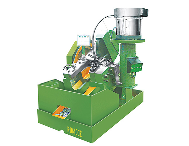 Vibrating plate headless cutting and rolling machine