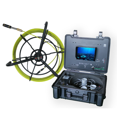Pipe Sewer Drain Inspection Camera with 5.2mm Cable & Ground Reel
