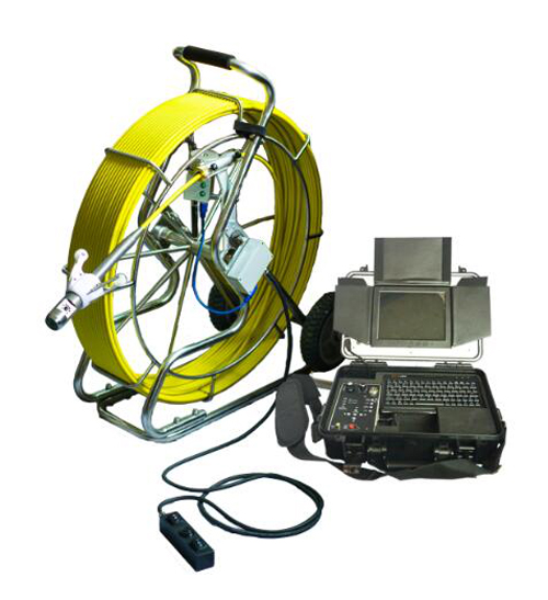 Witson Pipe Drain Sewer Inspection Camera System with Rotation Dual Camera