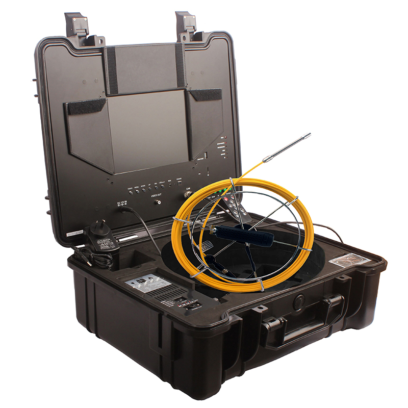 Mini Flexible Pipe Plumbing Inspection Camera with 10 inch monitor DVR controller
