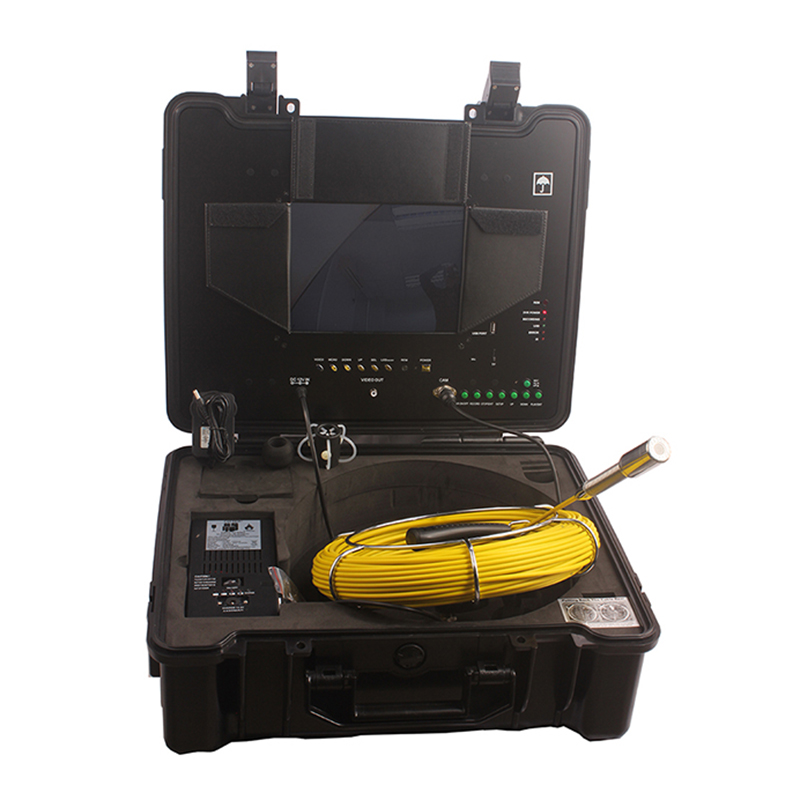 WITSON Sewer Pipe Inspection Camera with 26mm Self-leveling Metal Camera & 10 Inch Monitor