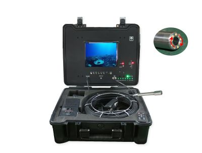 Waterproof 23mm self leveling CCTV Video Pipe drain sewer inspection camera system
