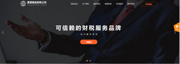 财务公司网站模板T10149.jpg