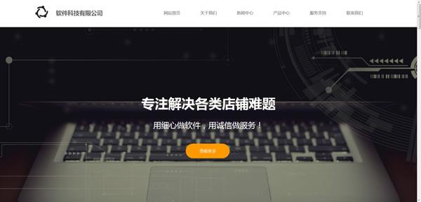 软件网络公司网站模板T10078.jpg