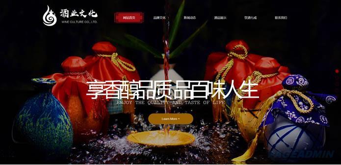 酒业网站模板 T9427.jpg