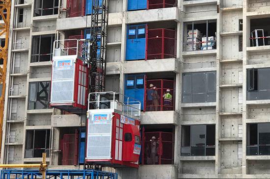 工程案例-力盛施工升降機在中建欖核