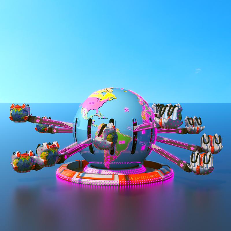 大型儿童游乐设备球形飞机