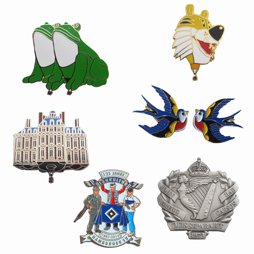 3d printing customized special shape popular novelty lovely blank sublimation lapel pin Badge
