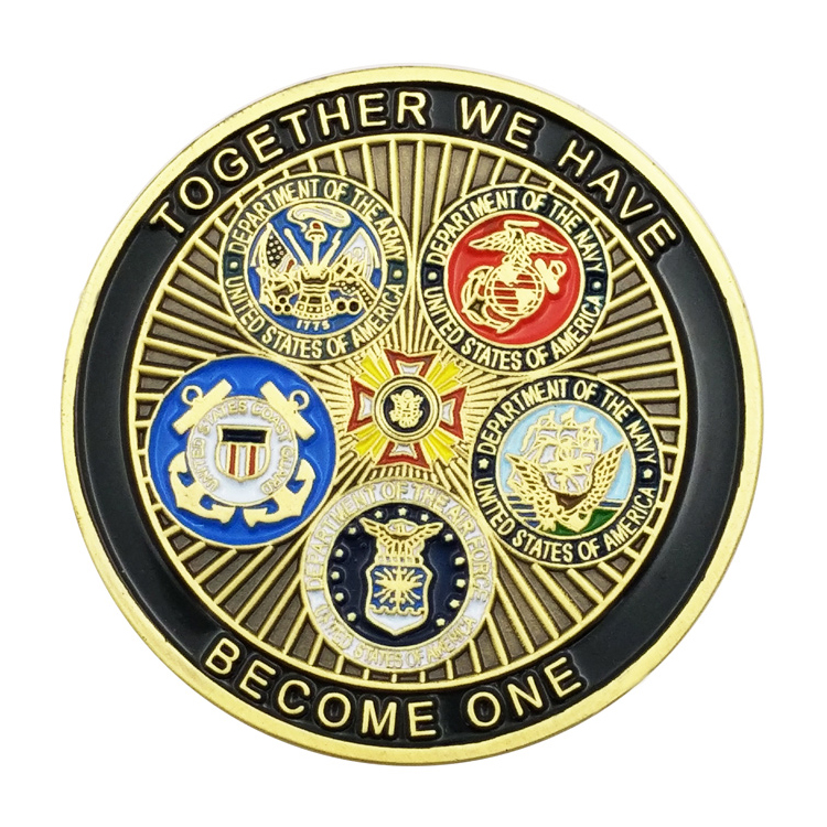 Custom Military Souvenir Commemorative Metal Enamel Challenge Coin