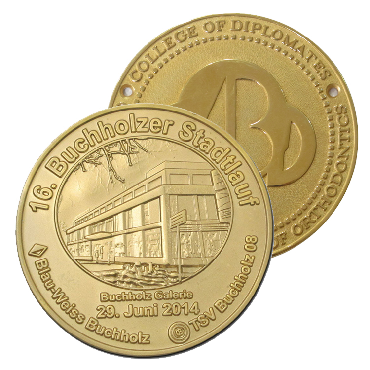 custom made metal coin buchholz galerie personalized gold plated coin