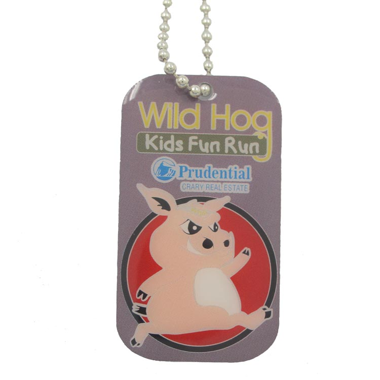 High quality 3d custom metal sublimation blank stainless steel dog tag