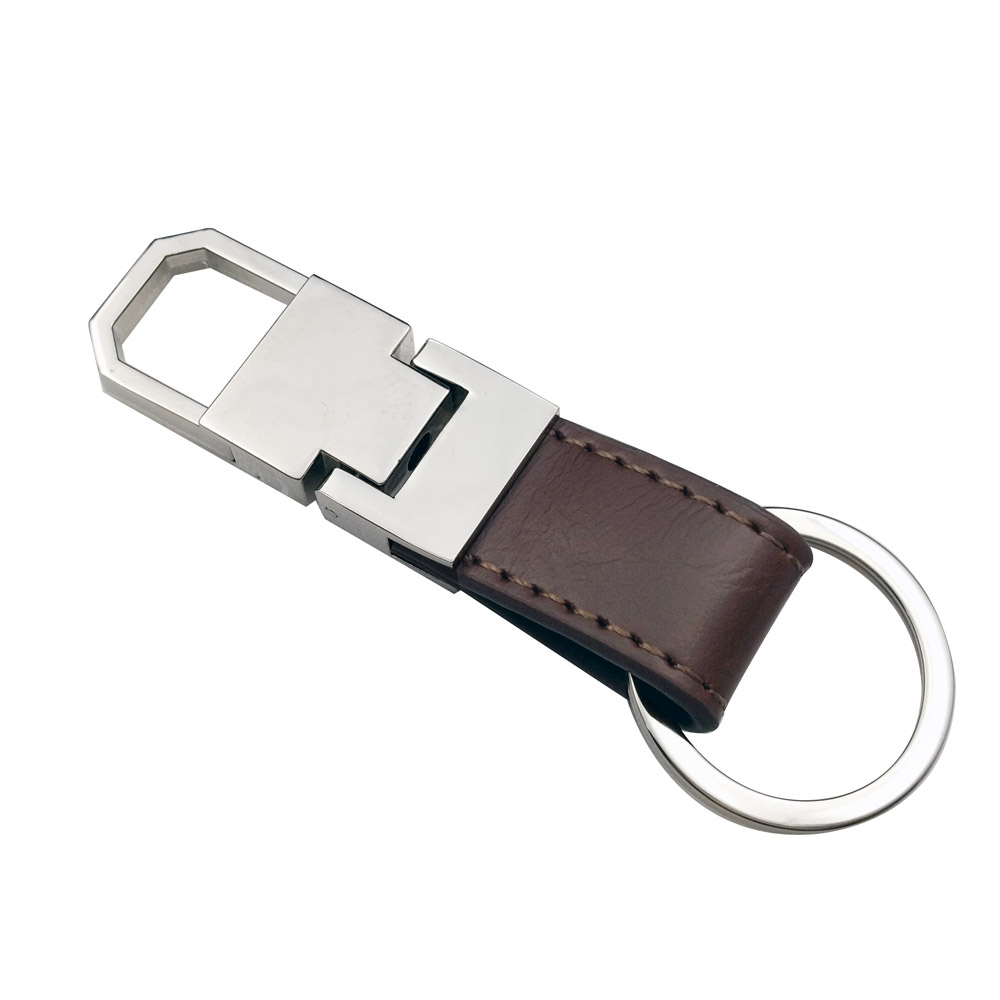 Personalized Men business gift laser engraving car keychain custom logo leather key chain