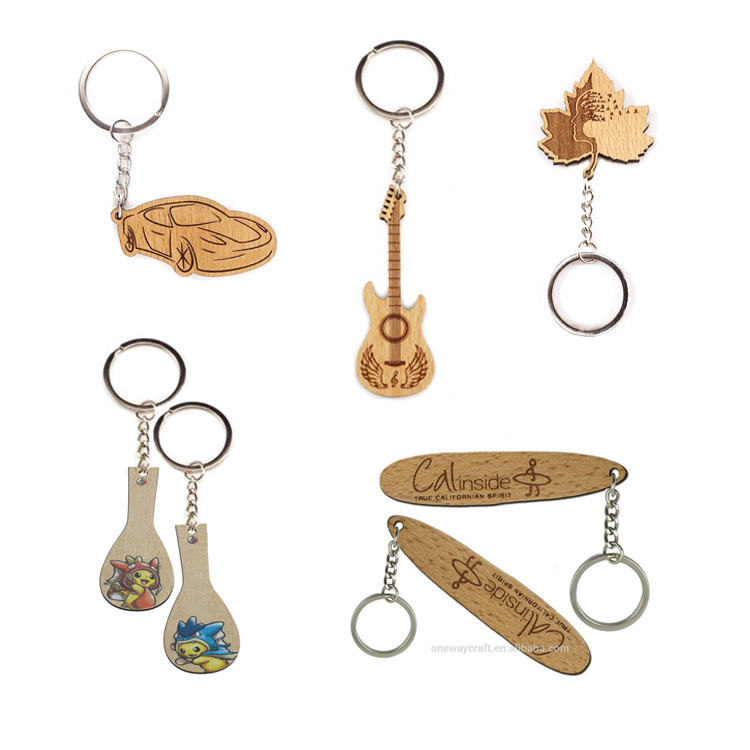 Keychain manufacturers custom promotional gifts wooden keychain