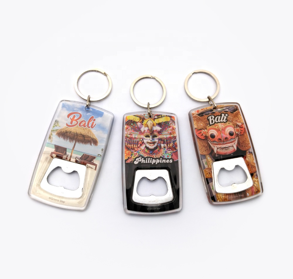 Oneway Factory Wholesale Custom Transparent Print Acrylic  Keychains