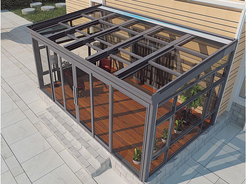 电动豪华阳光房-推拉电动天窗、电动遮阳