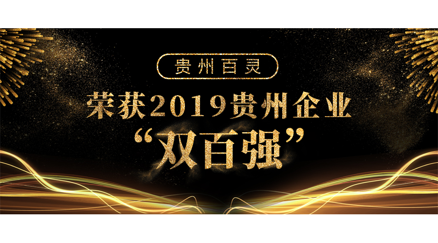 """贵州百灵荣获2019贵州企业""""双百强"""""""