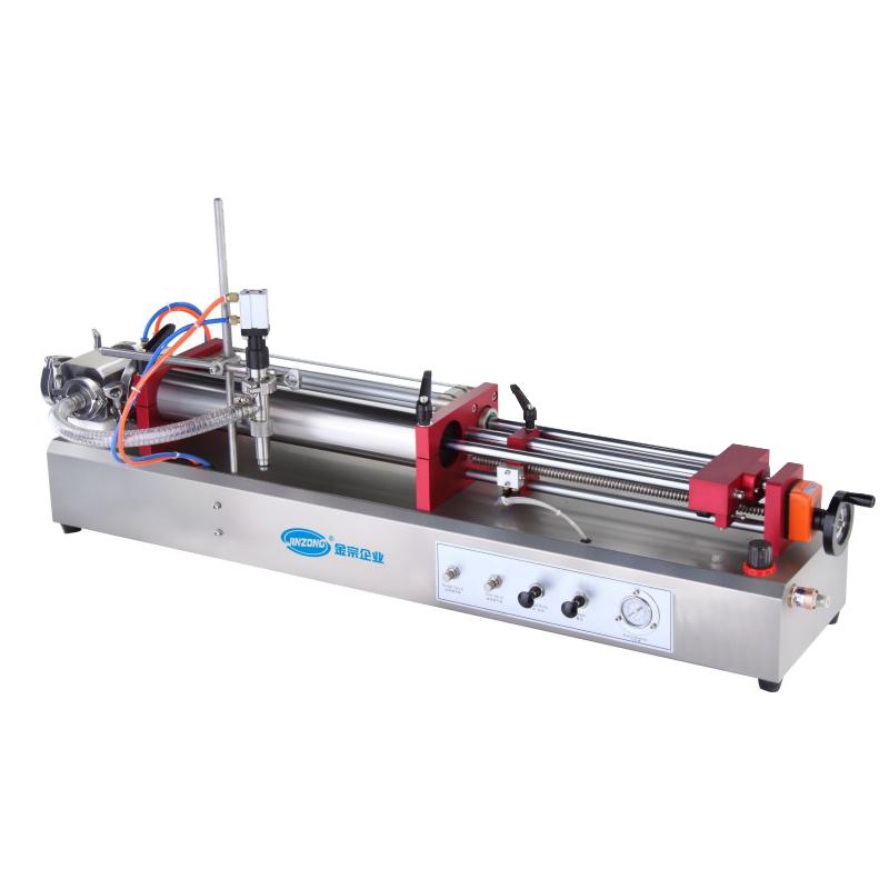 Horizontal Pneumatic Liquid Filling Machine